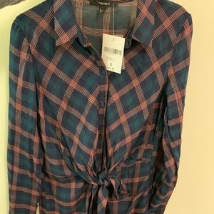 Fall plaid long sleeve dress